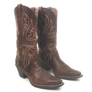 Ariat heritage tall western cowboy boots brown